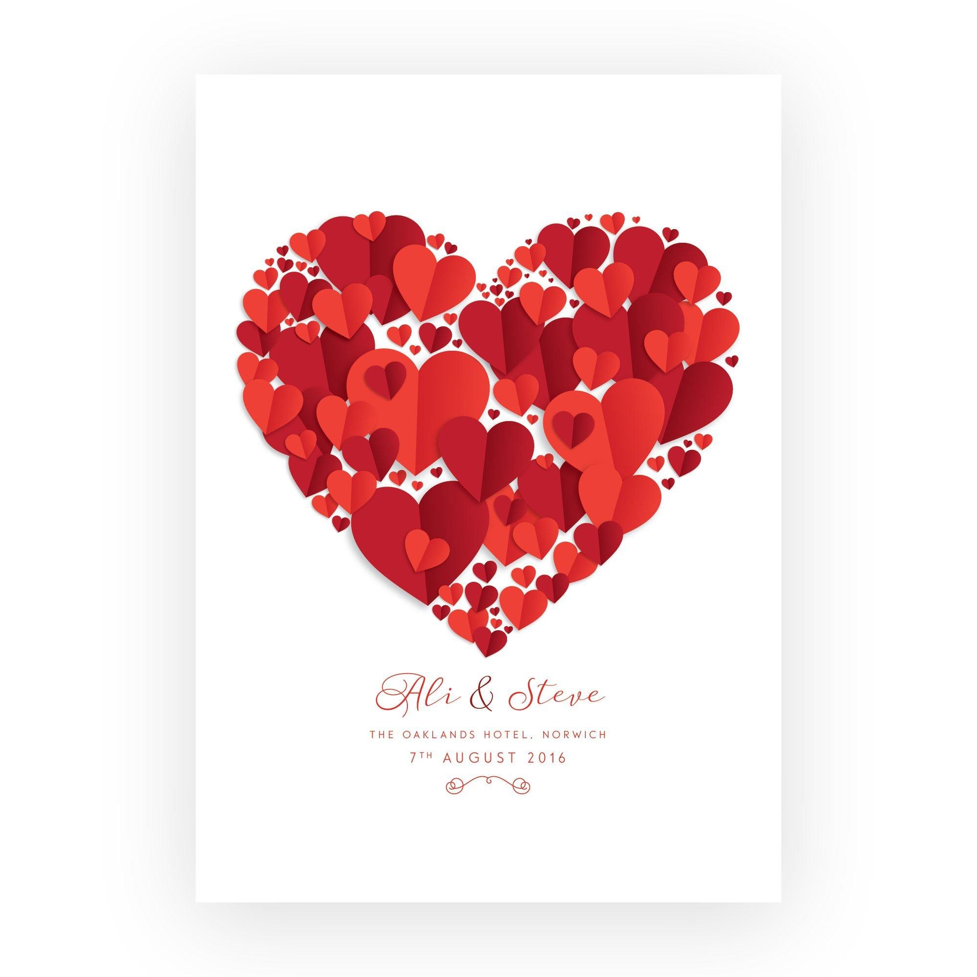 Beautiful Heart Wedding Gift Print