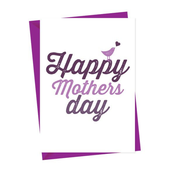 Happy Mothers Day Card Bird Design