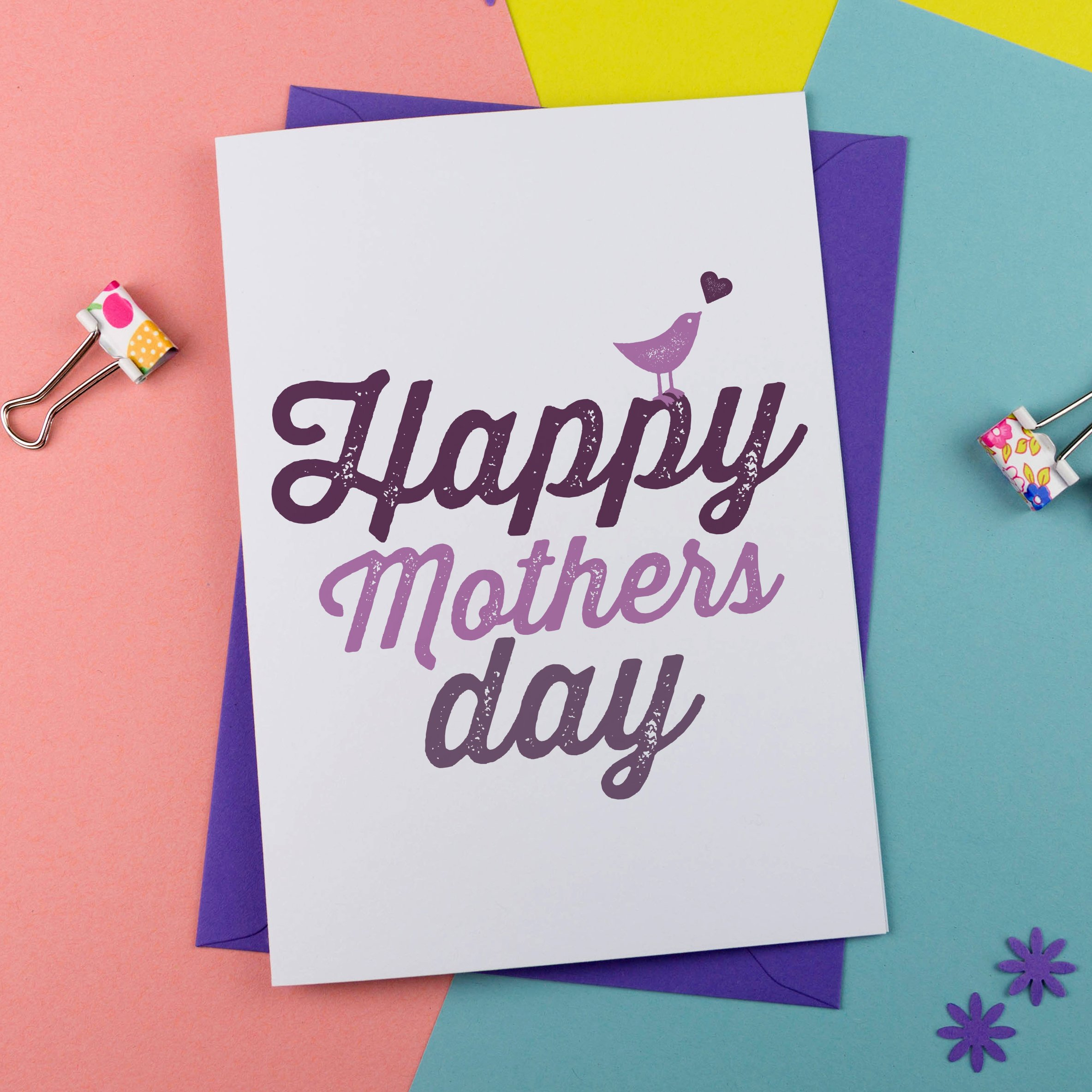 Mothers Day Card Bird Design
