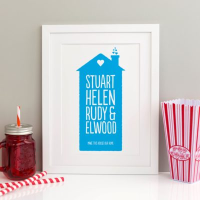 Pop House Personalised Print