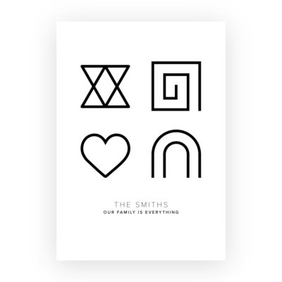 Personalised Glyph Print