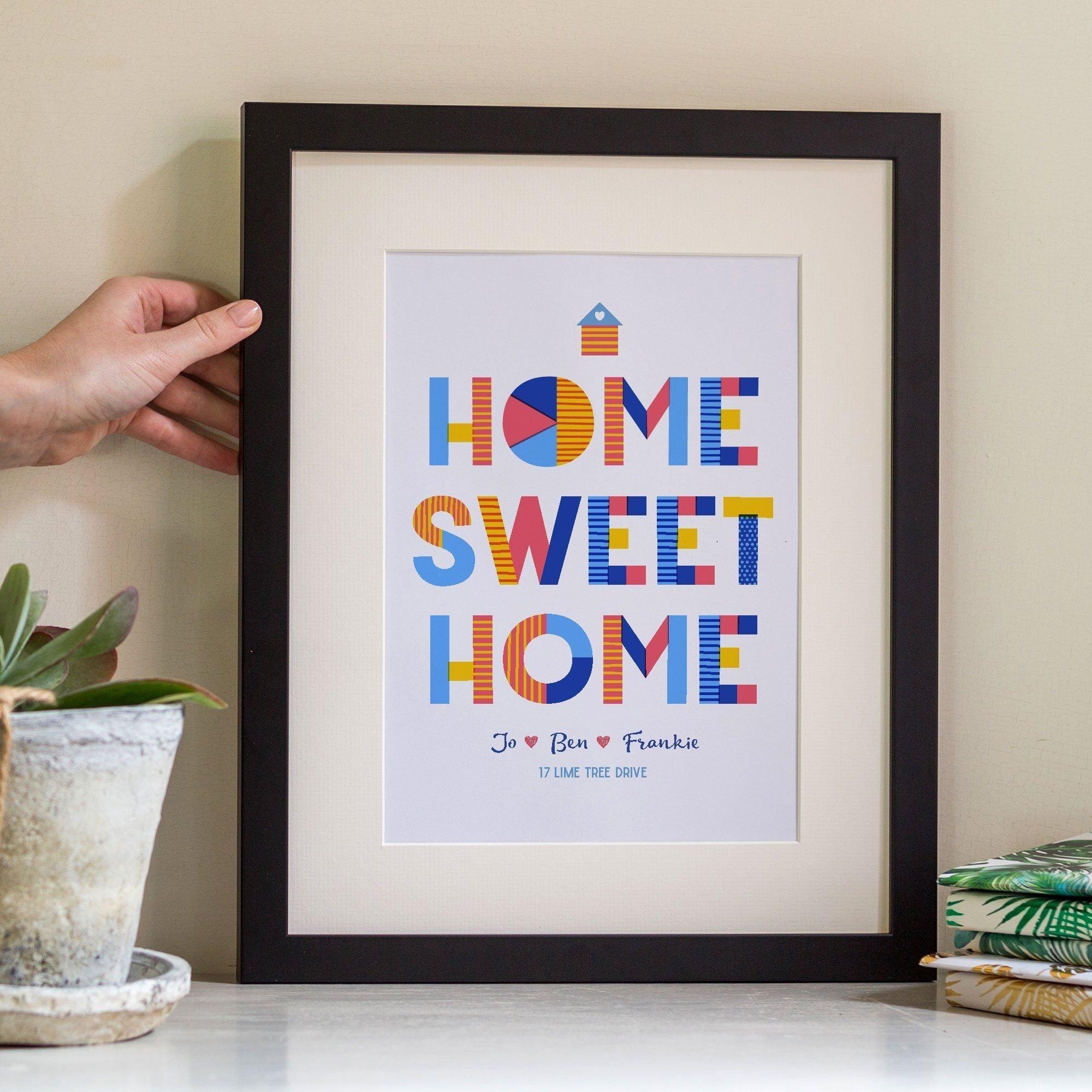 Home-Sweet-Home-Personalised-Gift-Print-Black-Frame