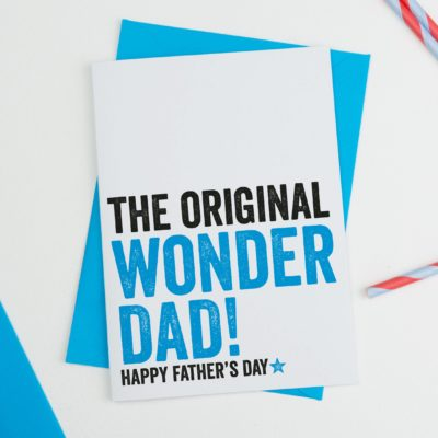 Original Wonder Dad Fathers Day Card