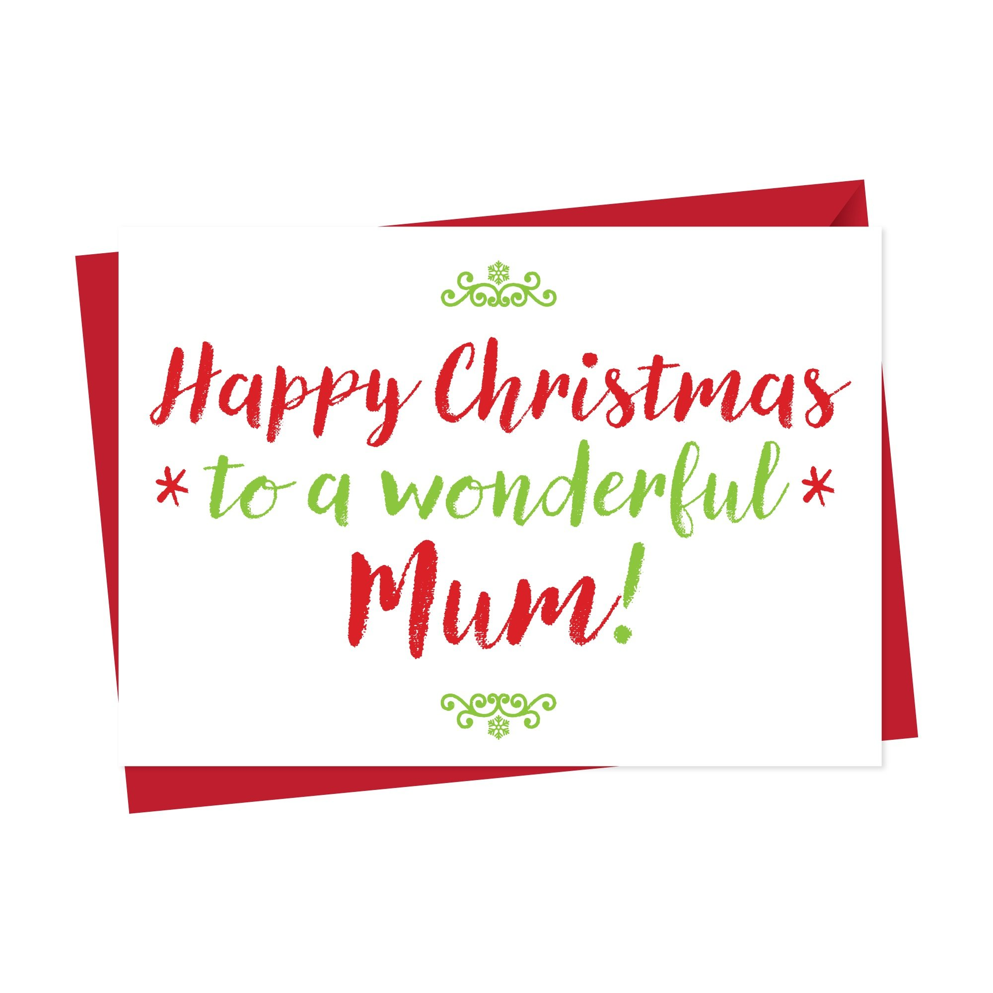 Christmas Card For Wonderful Mummy Or Mum