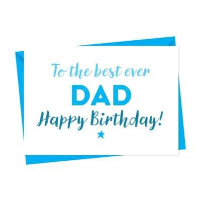 Canvas Birthday Card For Dad, Daddy or Father