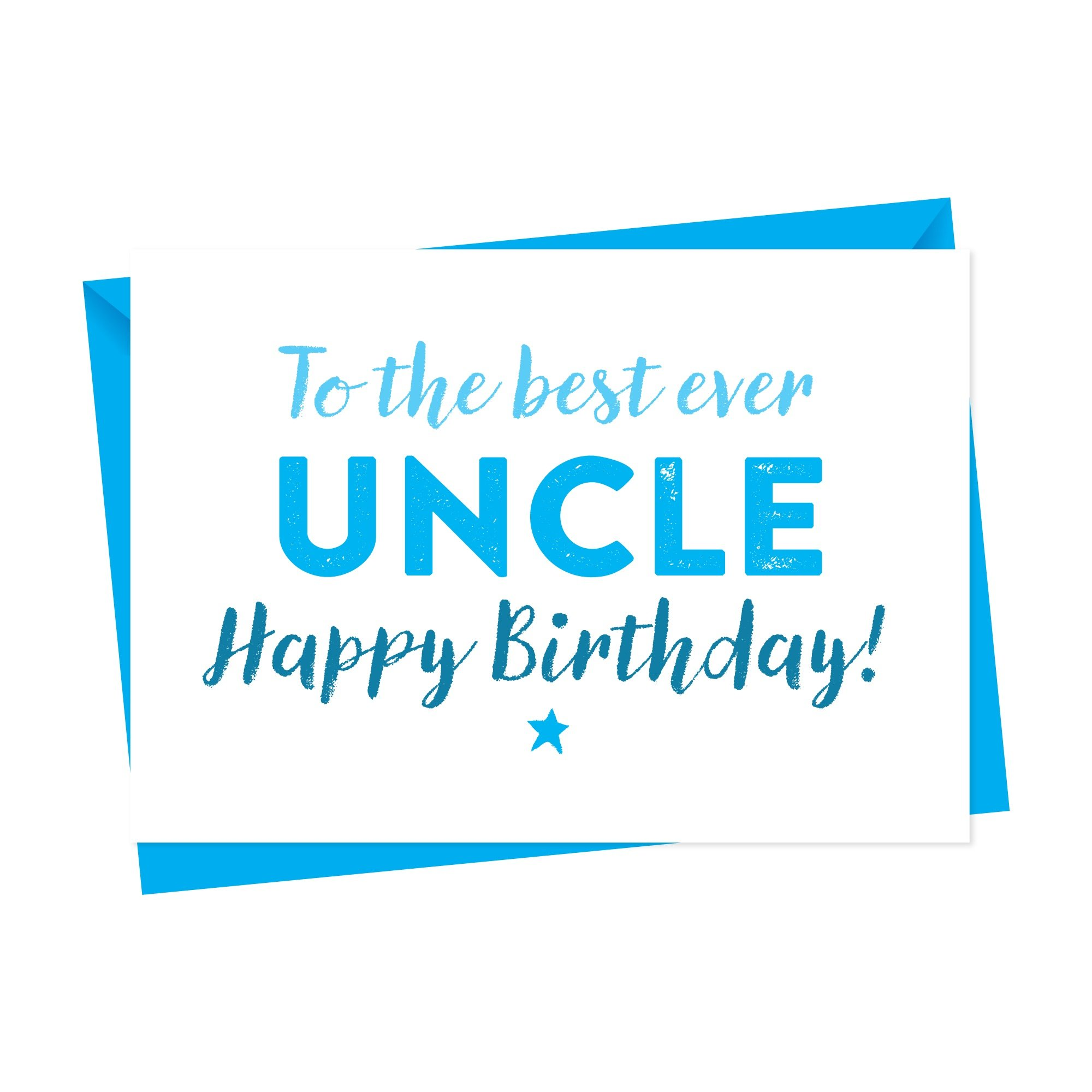 Canvas Birthday Card For Uncle