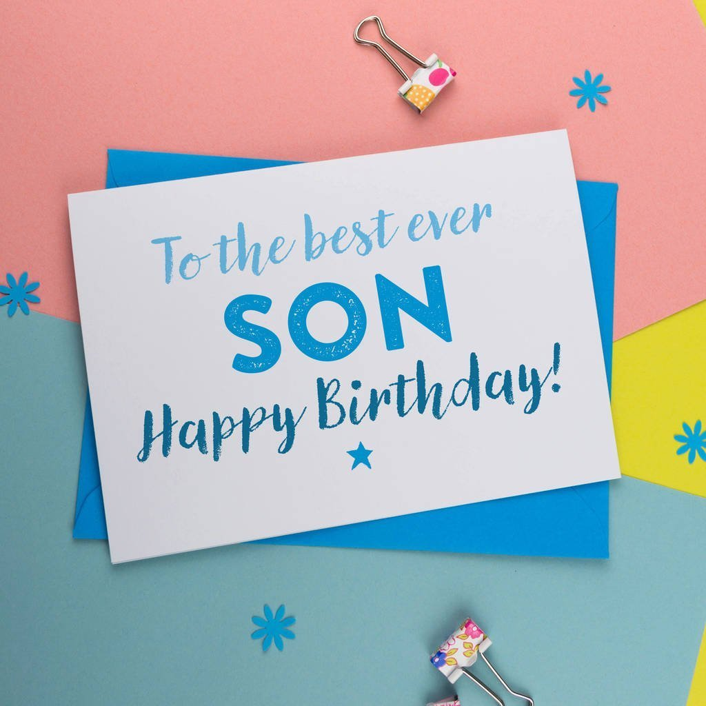 Canvas Birthday Card For Son