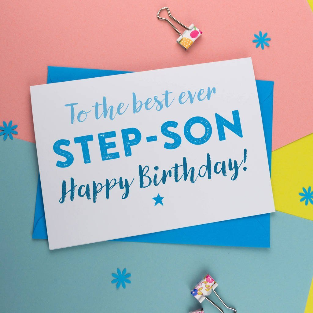 Canvas Birthday Card For Step Son