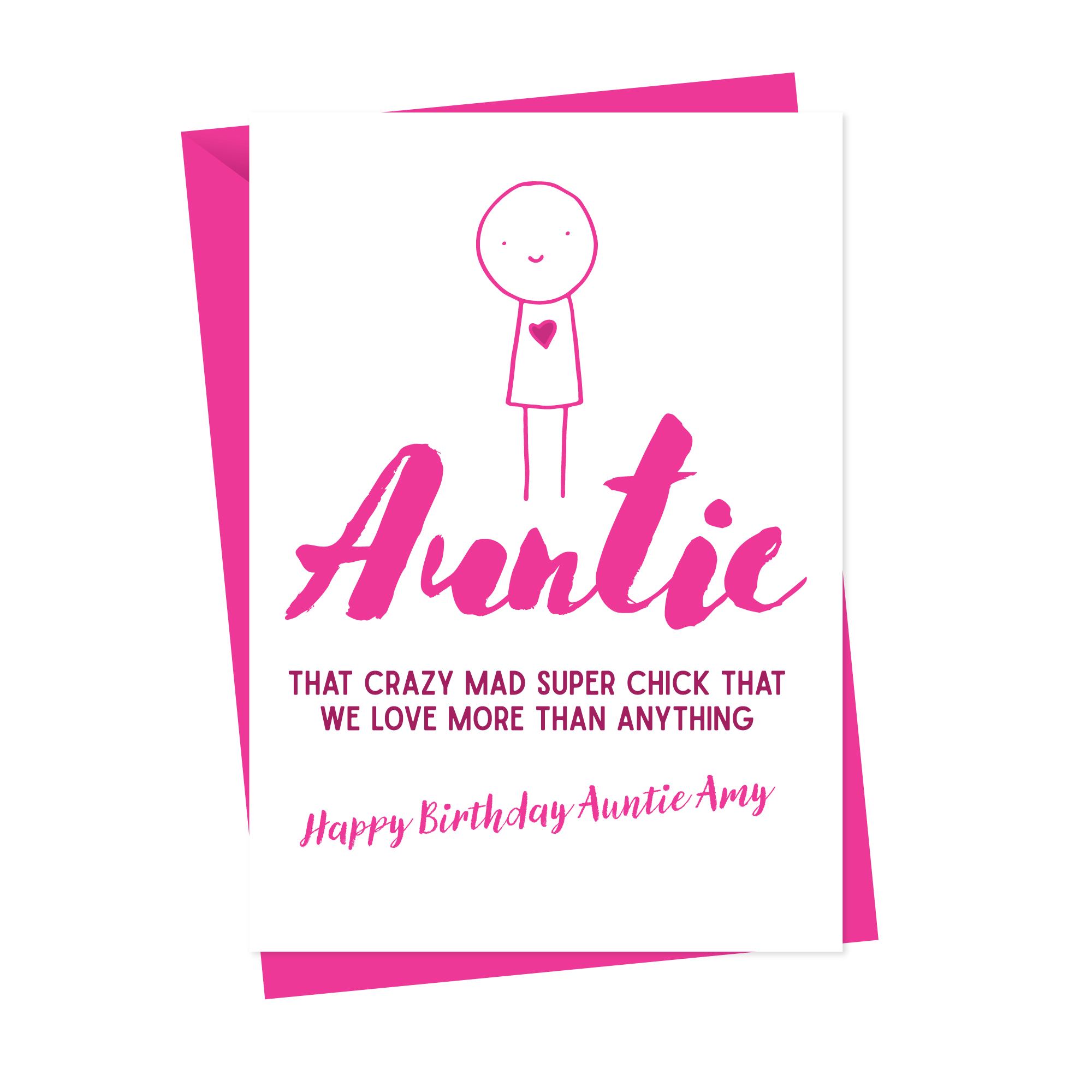 Auntie From The Kids Personalised Birthday Card