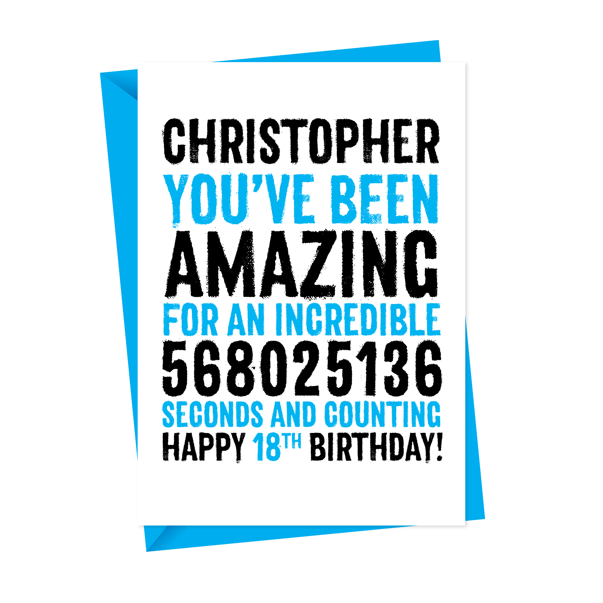 Happy Birthday In Seconds Personalised Card