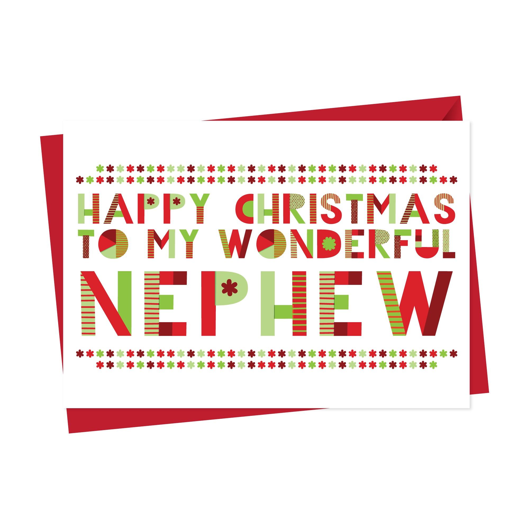 Wonderful Nephew Christmas Card