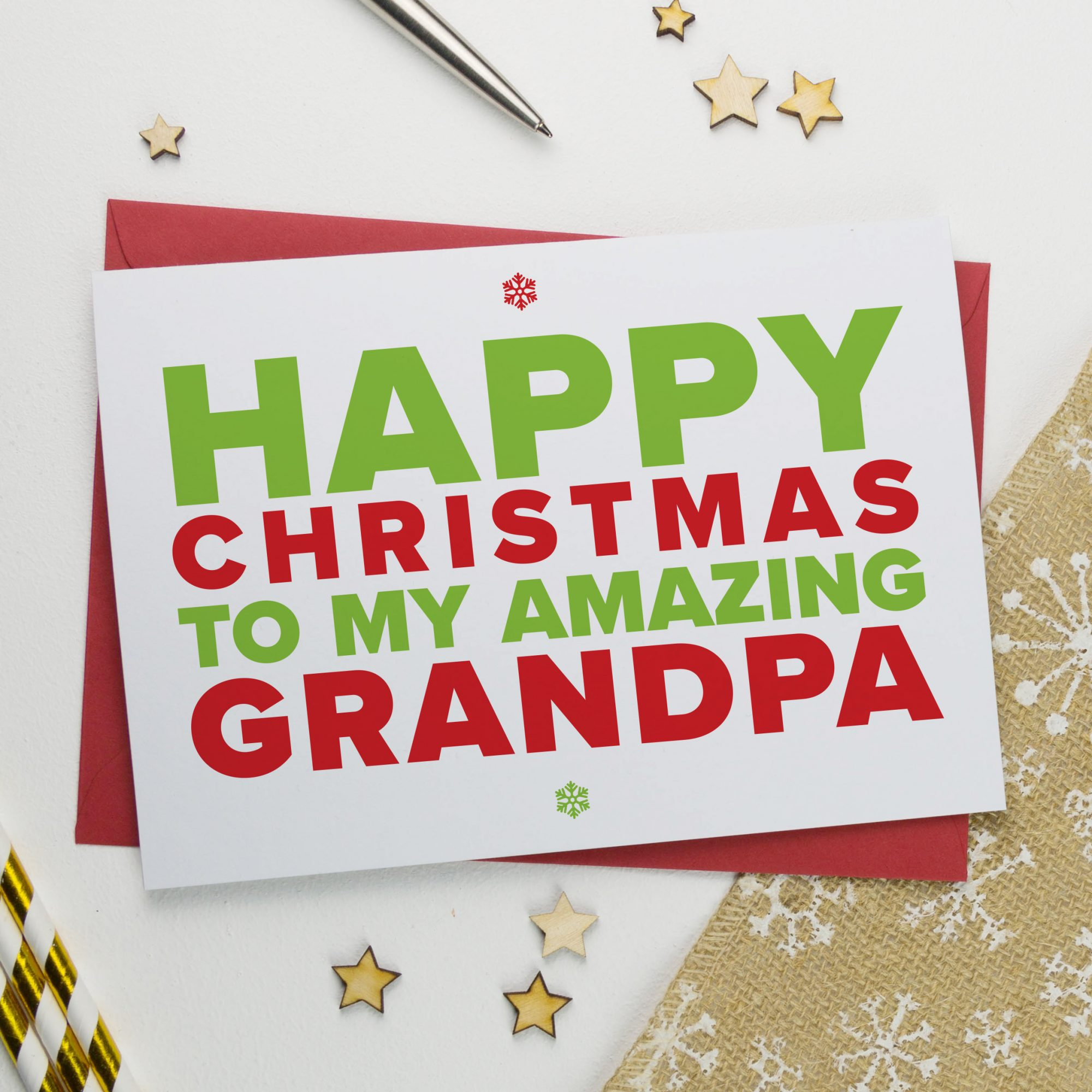 Christmas Card for An Amazing Grandad