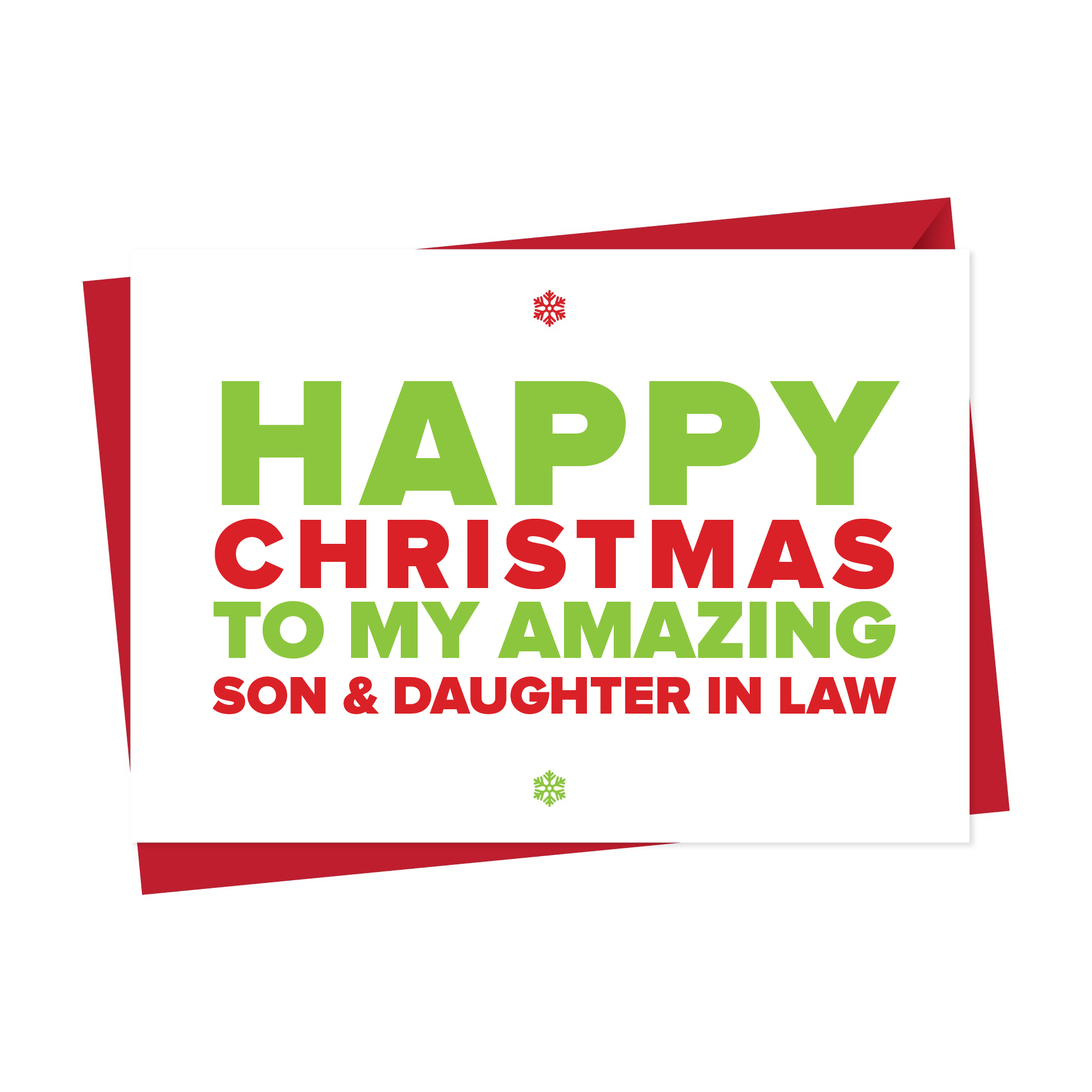 Christmas Card for An Amazing Son & Daughter in Law