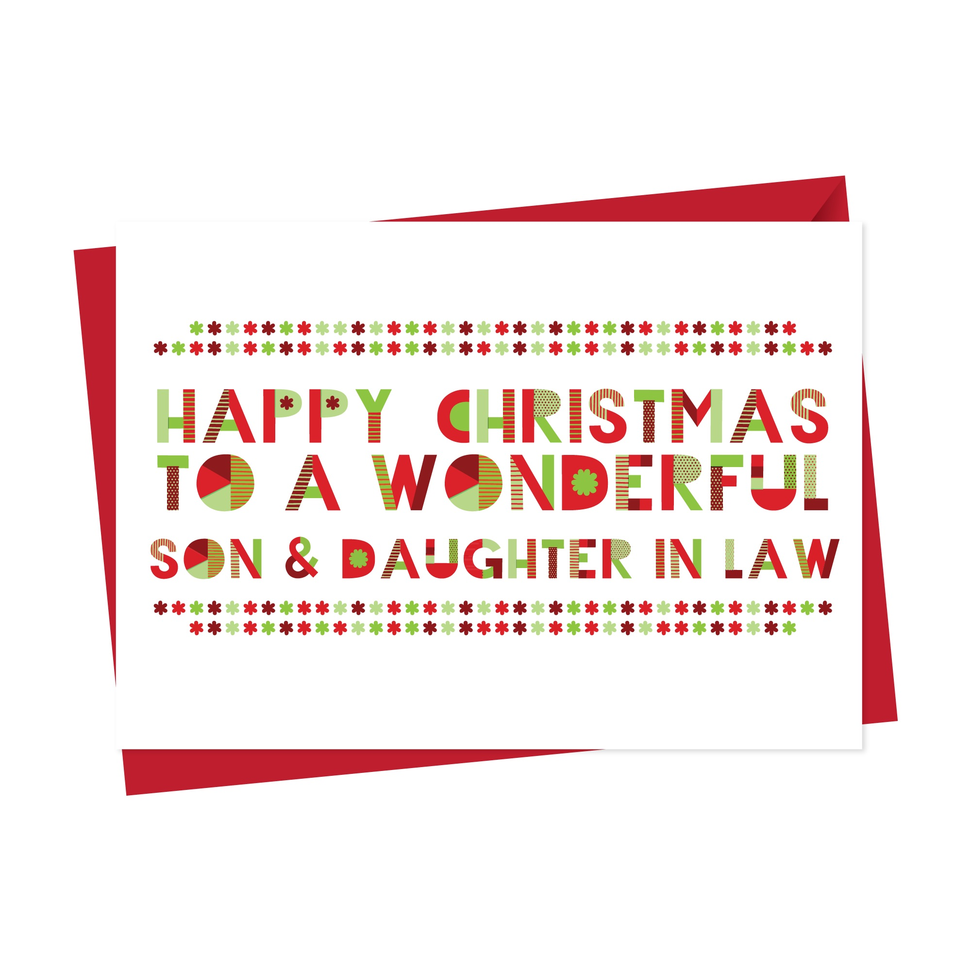 Wonderful Son&Daughter in Law Christmas Card
