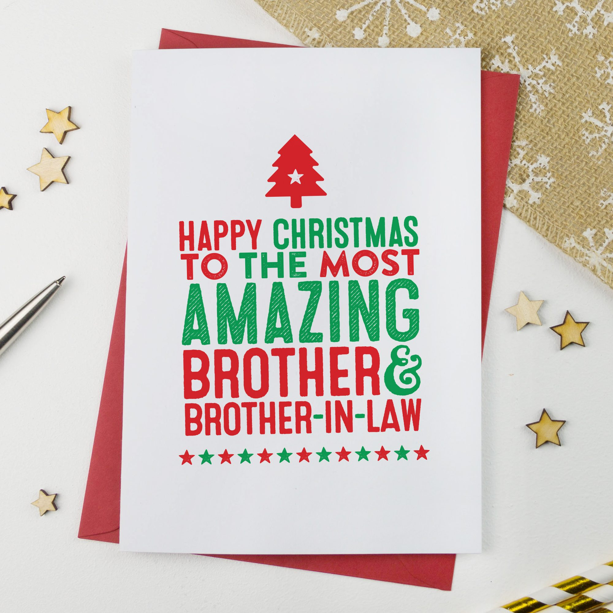 Amazing Brother & Brother in Law Christmas Card