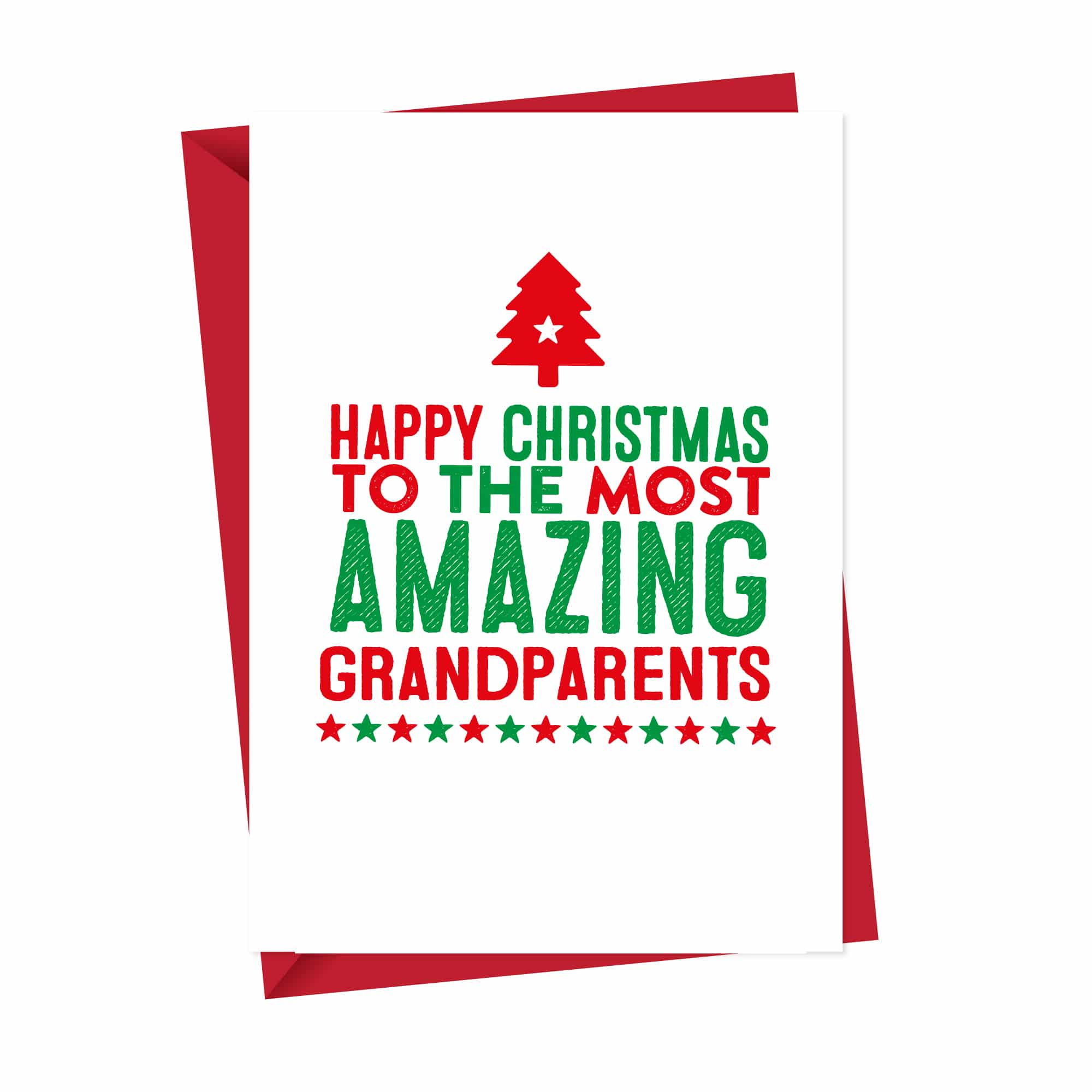 Amazing Grandparents Christmas Card