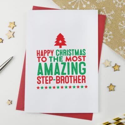 Amazing Step Brother Christmas Card