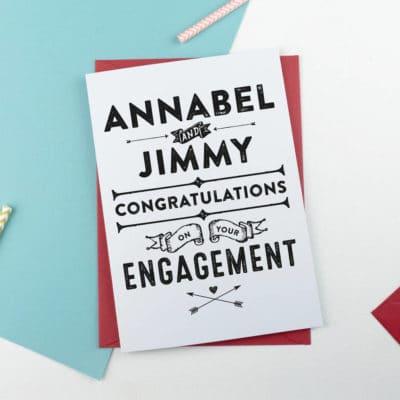 Personalised Contemporary Engagement Card